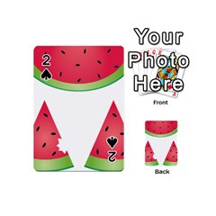 Watermelon Slice Red Green Fruite Playing Cards 54 (Mini)