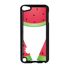 Watermelon Slice Red Green Fruite Apple iPod Touch 5 Case (Black)