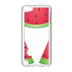 Watermelon Slice Red Green Fruite Apple iPod Touch 5 Case (White)