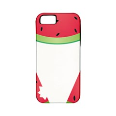 Watermelon Slice Red Green Fruite Apple iPhone 5 Classic Hardshell Case (PC+Silicone)