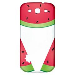 Watermelon Slice Red Green Fruite Samsung Galaxy S3 S III Classic Hardshell Back Case