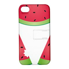 Watermelon Slice Red Green Fruite Apple iPhone 4/4S Hardshell Case with Stand