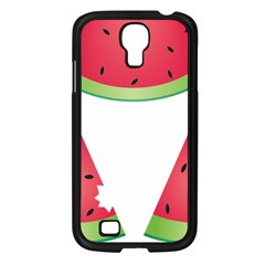 Watermelon Slice Red Green Fruite Samsung Galaxy S4 I9500/ I9505 Case (Black)