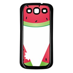 Watermelon Slice Red Green Fruite Samsung Galaxy S3 Back Case (black)
