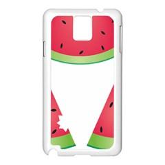 Watermelon Slice Red Green Fruite Samsung Galaxy Note 3 N9005 Case (White)