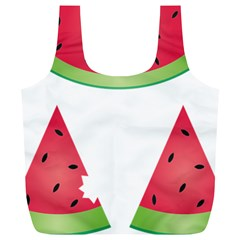 Watermelon Slice Red Green Fruite Full Print Recycle Bags (L)