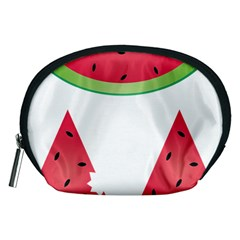 Watermelon Slice Red Green Fruite Accessory Pouches (Medium)