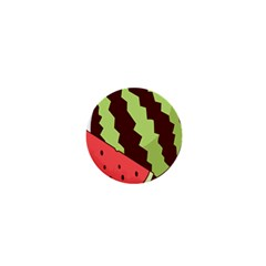 Watermelon Slice Red Green Fruite Circle 1  Mini Buttons