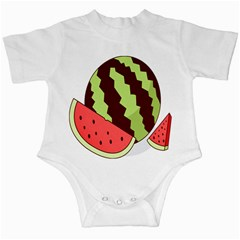 Watermelon Slice Red Green Fruite Circle Infant Creepers