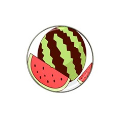 Watermelon Slice Red Green Fruite Circle Hat Clip Ball Marker