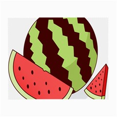Watermelon Slice Red Green Fruite Circle Small Glasses Cloth (2-Side)