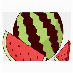 Watermelon Slice Red Green Fruite Circle Large Glasses Cloth (2-Side)