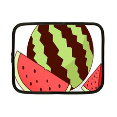 Watermelon Slice Red Green Fruite Circle Netbook Case (Small)