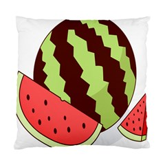 Watermelon Slice Red Green Fruite Circle Standard Cushion Case (Two Sides)