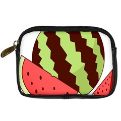 Watermelon Slice Red Green Fruite Circle Digital Camera Cases