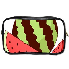 Watermelon Slice Red Green Fruite Circle Toiletries Bags