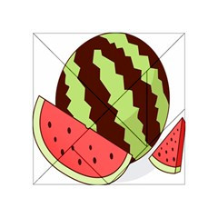 Watermelon Slice Red Green Fruite Circle Acrylic Tangram Puzzle (4  x 4 )
