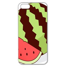 Watermelon Slice Red Green Fruite Circle Apple Seamless iPhone 5 Case (Clear)