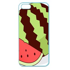 Watermelon Slice Red Green Fruite Circle Apple Seamless iPhone 5 Case (Color)