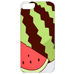 Watermelon Slice Red Green Fruite Circle Apple iPhone 5 Classic Hardshell Case
