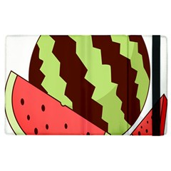 Watermelon Slice Red Green Fruite Circle Apple iPad 3/4 Flip Case