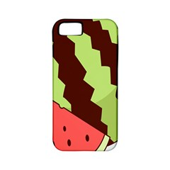 Watermelon Slice Red Green Fruite Circle Apple iPhone 5 Classic Hardshell Case (PC+Silicone)
