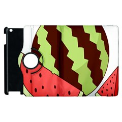Watermelon Slice Red Green Fruite Circle Apple iPad 2 Flip 360 Case