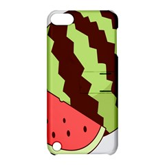 Watermelon Slice Red Green Fruite Circle Apple iPod Touch 5 Hardshell Case with Stand