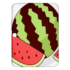 Watermelon Slice Red Green Fruite Circle Samsung Galaxy Tab 3 (10.1 ) P5200 Hardshell Case