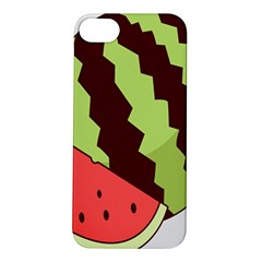 Watermelon Slice Red Green Fruite Circle Apple iPhone 5S/ SE Hardshell Case