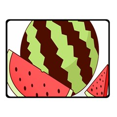 Watermelon Slice Red Green Fruite Circle Double Sided Fleece Blanket (Small)