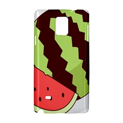 Watermelon Slice Red Green Fruite Circle Samsung Galaxy Note 4 Hardshell Case