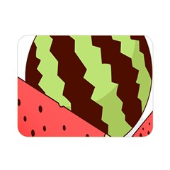 Watermelon Slice Red Green Fruite Circle Double Sided Flano Blanket (Mini)