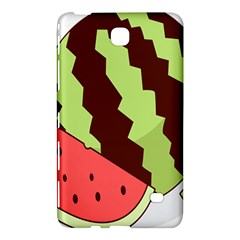 Watermelon Slice Red Green Fruite Circle Samsung Galaxy Tab 4 (7 ) Hardshell Case