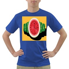 Watermelon Slice Red Orange Green Black Fruite Time Dark T-Shirt