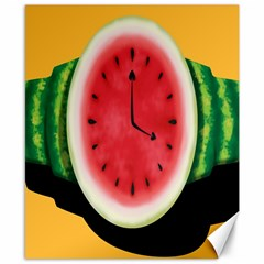 Watermelon Slice Red Orange Green Black Fruite Time Canvas 8  x 10