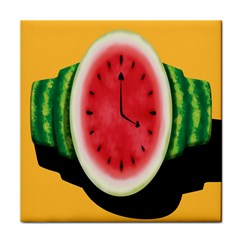 Watermelon Slice Red Orange Green Black Fruite Time Face Towel