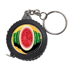 Watermelon Slice Red Orange Green Black Fruite Time Measuring Tapes