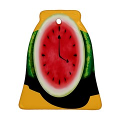 Watermelon Slice Red Orange Green Black Fruite Time Bell Ornament (Two Sides)