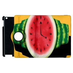 Watermelon Slice Red Orange Green Black Fruite Time Apple iPad 3/4 Flip 360 Case