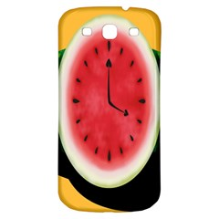 Watermelon Slice Red Orange Green Black Fruite Time Samsung Galaxy S3 S III Classic Hardshell Back Case