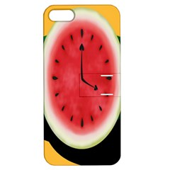 Watermelon Slice Red Orange Green Black Fruite Time Apple iPhone 5 Hardshell Case with Stand