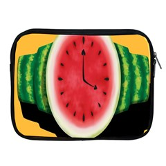 Watermelon Slice Red Orange Green Black Fruite Time Apple iPad 2/3/4 Zipper Cases