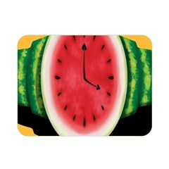 Watermelon Slice Red Orange Green Black Fruite Time Double Sided Flano Blanket (Mini)