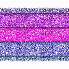 Violet Girly Glitter Pink Blue Canvas 18  x 24