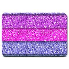Violet Girly Glitter Pink Blue Large Doormat