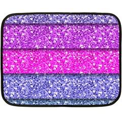 Violet Girly Glitter Pink Blue Fleece Blanket (Mini)