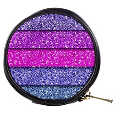 Violet Girly Glitter Pink Blue Mini Makeup Bags