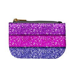 Violet Girly Glitter Pink Blue Mini Coin Purses