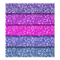 Violet Girly Glitter Pink Blue Shower Curtain 66  x 72  (Large)